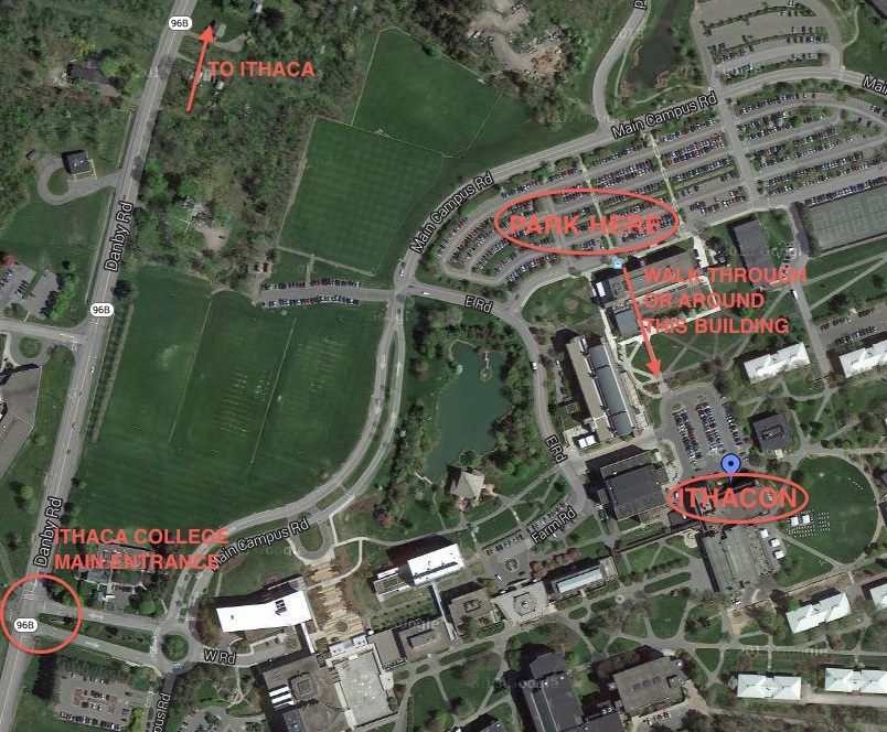 Campus Map Ithaca College.Comic Book Club Of Ithaca Presents Ithacon